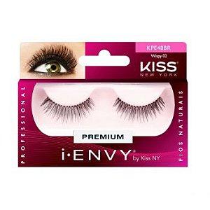 KISS NEW YORK i.Envy Cílios Postiços Wispy 02 (KPE48BR)