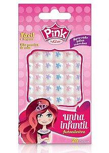 Kiss NY Unhas Postiças Infantil Pink 24Un (FPSP03)