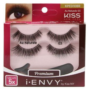 Kiss NY i.Envy Cílios Postiços Double Pack Au Naturele 03 (KPED10) 2 Pares