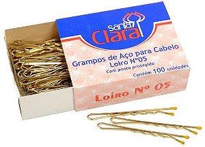 Santa Clara Grampo para Cabelo de Aço n°5 Loiro 100un (121)