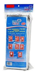 SANTA CLARA Papel Isolmanta com Velcro Costurado tamanho Extra Grande 18 pares (308)
