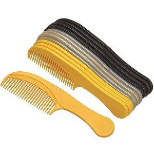 SANTA CLARA Pente de Plástico Classic com Dentes Largos 12un (686)