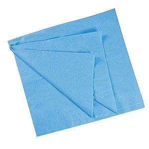 Santa Clara Lençol para Maca Descartável Luxo Sem Elástico em TNT Ref.1041 Azul 5Un(9203)