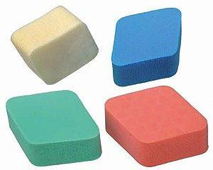 SANTA CLARA Esponja para Maquiagem Colorida Modelo Losango cores sortidas Importada 4un (1148)