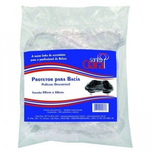 SANTA CLARA Protetor Descartável para Bacia de Pedicure 100Un (2945)