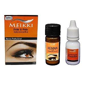 Meikki Henna para Sobrancelha Castanho Médio - 2,5g