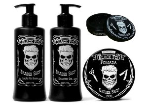 Black Fix Barber Shop Kit Masculino Cabelos e Barba Escuros