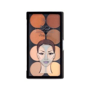 RK By Kiss Paleta de Contorno em Pó 3D Contour Artist Powder Light Medium