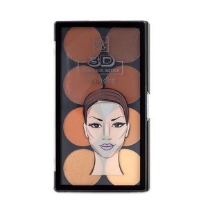 RK By Kiss Paleta de Contorno em Pó 3D Contour Artist Powder Medium Dark