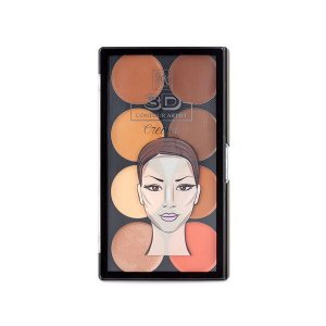 RK By Kiss Paleta de Contorno Cremosa 3D Contour Artist Cream Light Medium