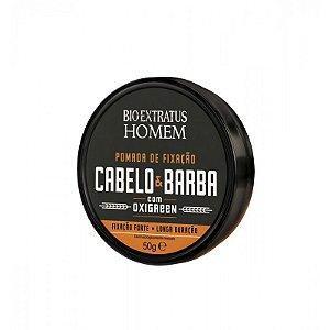 BIO EXTRATUS Homem Pomada de Fixação Cabelo & Barba 50g