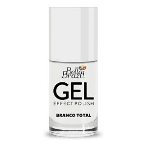 Bella Brazil Esmalte Efeito Gel Branco Total 8ml