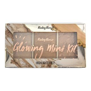 Ruby Rose Paleta de Iluminador Glowing Mini Kit HB-7215 Cor 2