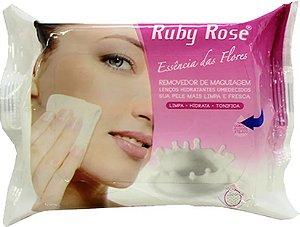 Ruby Rose Lenço Removedor de Maquiagem Essência de Flores 25un HB-200