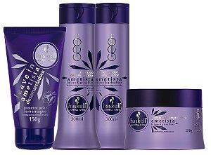 Haskell Ametista Desamareladora Shampoo+Condicionador 300g + Máscara 250g, + Leave-in 150g