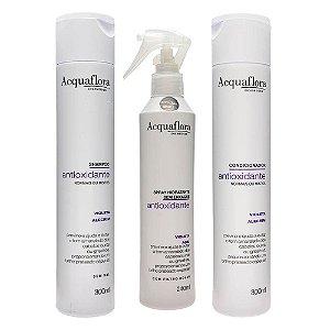 Acquaflora Antioxidante para Cabelos Normais ou Mistos Shampoo+Condicionador+ Spray (veja descrição)
