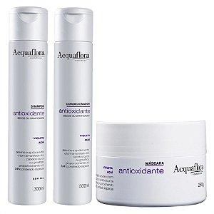 Acquaflora Antioxidante para Cabelos Secos ou Danificados Shampoo+Condicionador+Máscara (veja descrição)