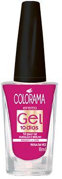 Colorama Esmalte Efeito Gel 10 dias Rosa da Vez