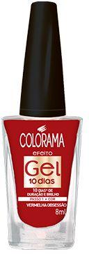 Colorama Esmalte Efeito Gel 10 dias Vermelha Obsessão