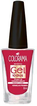 Colorama Esmalte Efeito Gel 10 dias Vermelha Proibido