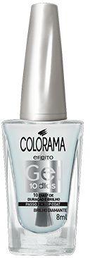 Colorama Esmalte Efeito Gel 10 dias Top Coat: Brilho Diamante