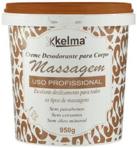 Kelma Creme de Massagem Desodorante para o Corpo Uso Profissional Café 950g