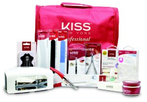 Kiss New York Kit Profissional Gel e Acrygel Components com Cabine de LED inclusa (KPSET03NBR)