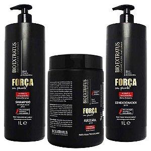Bio Extratus Força com Pimenta Shampoo + Condicionador 1L + Máscara 1Kg