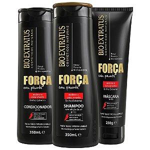 Bio Extratus Força com Pimenta Shampoo + Condicionador 350ml + Máscara 250g