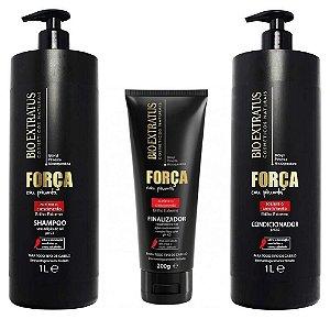 Bio Extratus Força com Pimenta Shampoo + Condicionador 1L + Finalizador 200g