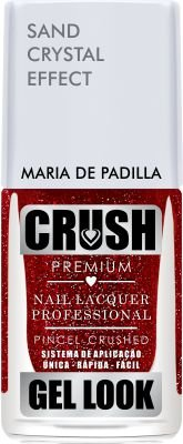 Crush Gel Look Esmalte Sand Crystal Effect Maria Padilha