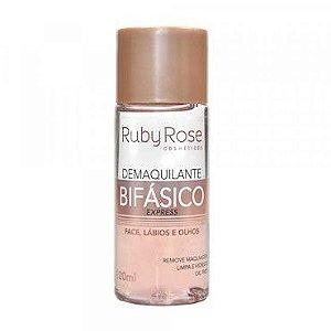 Ruby Rose Demaquilante Bifásico Express para Face, Lábios e Olhos 120ml HB-302