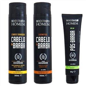 Bio Extratus Homem Balm Pós-Barba 90g + Shampoo + Condicionador Cabelo & Barba 300ml