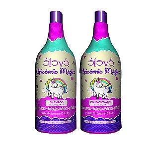 Élevé Unicórnio Mágico Acidificante Shampoo + Condicionador para Cabelos com Química 1L