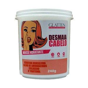 Glatten Desmaia Cabelo Máscara Mousse Hidratante - 240G