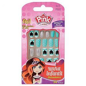 Pink by Kiss Unhas Postiças Infantil 24un (FBPG01)