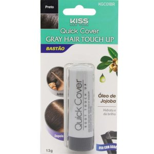 KISS NEW YORK Retoque Capilar Bastão Gray Hair Touch Up Preto 13g (KGC01BR)