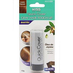 Kiss New York Retoque Capilar Bastão Gray Hair Touch Up Loiro Escuro 13g (KGC03BR)