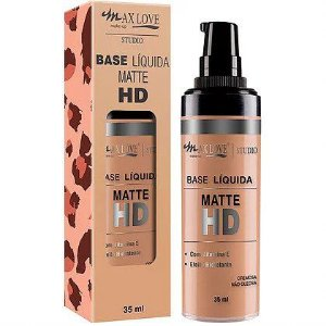Max Love Studio Base Líquida Matte HD n°10 Bege Médio 35ml