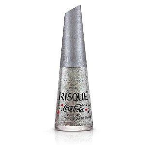 Risqué Esmalte Metálico Viva o Lado Coca-Cola da Vida