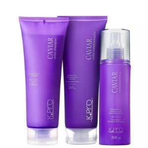 K.Pro Caviar Color Shampoo + Condicionador 240ml + Leave-in 200ml