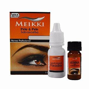 Meikki Henna para Sobrancelha Louro Claro 2,5g