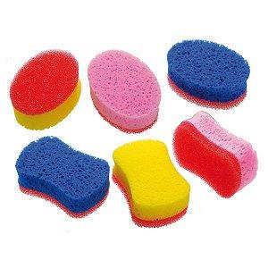 SANTA CLARA Bucha para Banho Dupla Face cores sortidas 1 unidade (1193)
