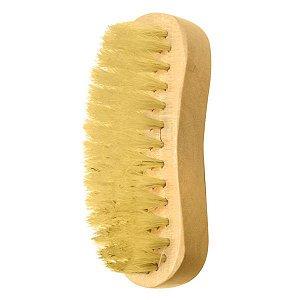 SANTA CLARA Escova para Barbeiro Concava com Pelo Natural de Madeira Importado (4874)