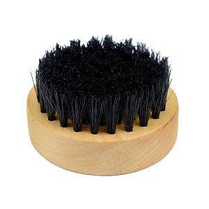 SANTA CLARA Escova para Barbeiro Redonda de Madeira Importado (4649)