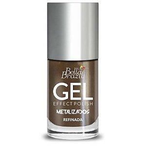 Bella Brazil Esmalte Efeito Gel Metalizado Refinada 8ml