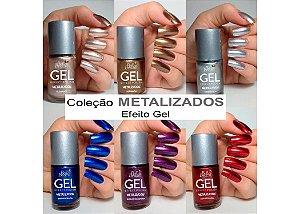 BELLA BRAZIL Esmalte Efeito Gel Metalizado Coleção