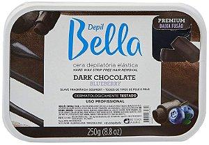 DEPIL BELLA Cera Depilatória Elástica Premium Dark Chocolate e Blueberry 250g
