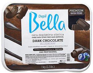 Depil Bella Cera Depilatória Elástica Dark Chocolate e Blueberry 1Kg