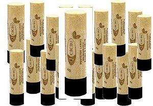 QCacau Protetor Labial com Manteiga de Cacau e Karite 4g - 20 unidades